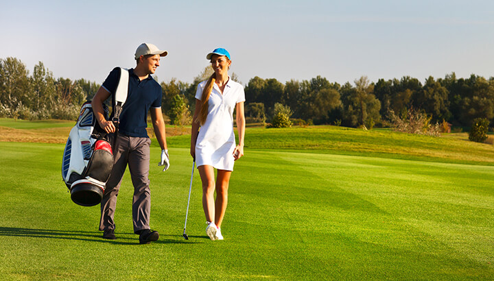 Walking for 30 minutes a day can improve your golf game